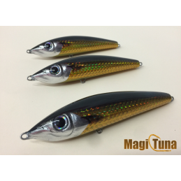 magic tuna suspending holografico dorado cabeza negra
