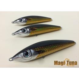 magic tuna suspending holografico dorado cabeza negra
