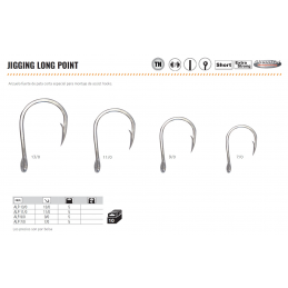 ANZUELO JIGGING LONG POINT