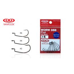 Anzuelo Texas Vanfook Worm-35B Flat